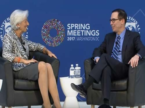 "IMF's Lagarde and Treasury Secretary Mnuchin: U.S. Economy Is ""Well-Positioned For Growth"""