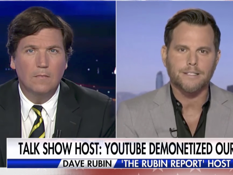 "Tucker Carlson Interviews Dave Rubin About ""Ominous"" Google De-Monetizing YouTube Videos"