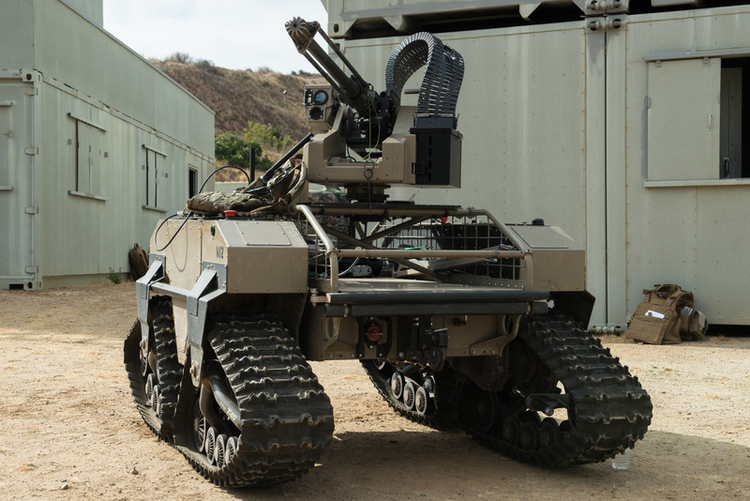 Marines Arm Drone Vehicle with .50-cal Machine Gun for Urban Fight