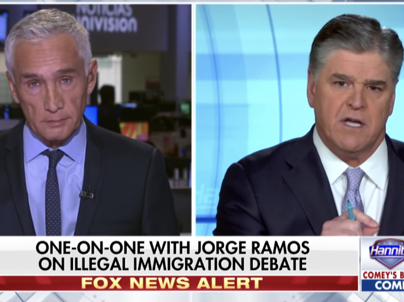 Hannity vs  Ramos On Illegal Immigration: We Can't Have A