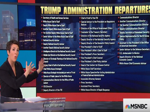 rachel maddow nobody knows why rex tillerson was fired what s