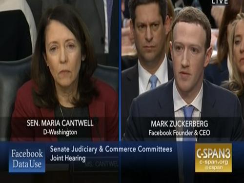 Sen  Cantwell Questions Zuckerberg About Palantir, Total