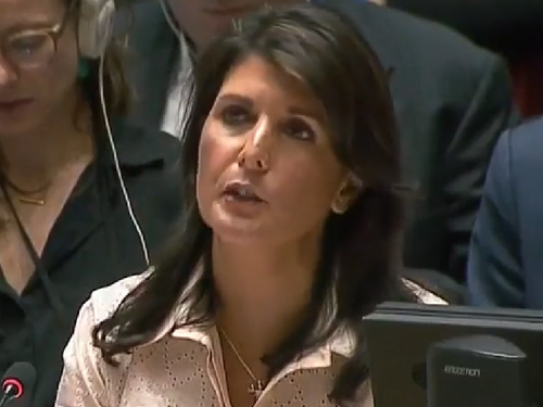 "Nikki Haley on Gaza: No Country Acts With More ""Restraint"" Than Israel"