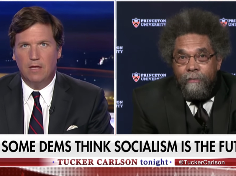 Tucker Carlson vs Cornel West on Democratic Socialism: How Do Slave Descendants Benefit from Illegal Immigration?