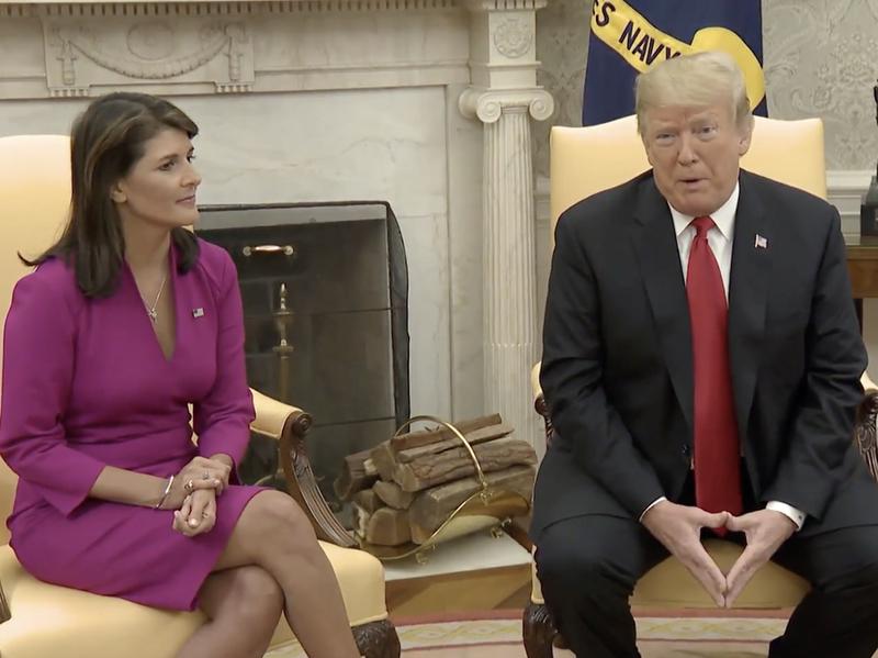 "Trump: Haley Made U.N. Ambassador ""Glamorous Position,"" U.S. ""Respected Again"""