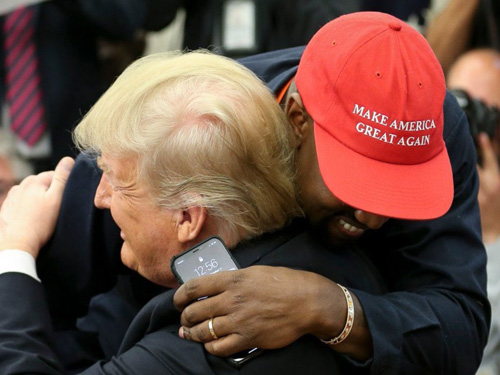"Kanye West: President Trump Is ""On His Hero's Journey,"" Wearing ""MAGA"" Hat Makes Me Feel Like Superman"