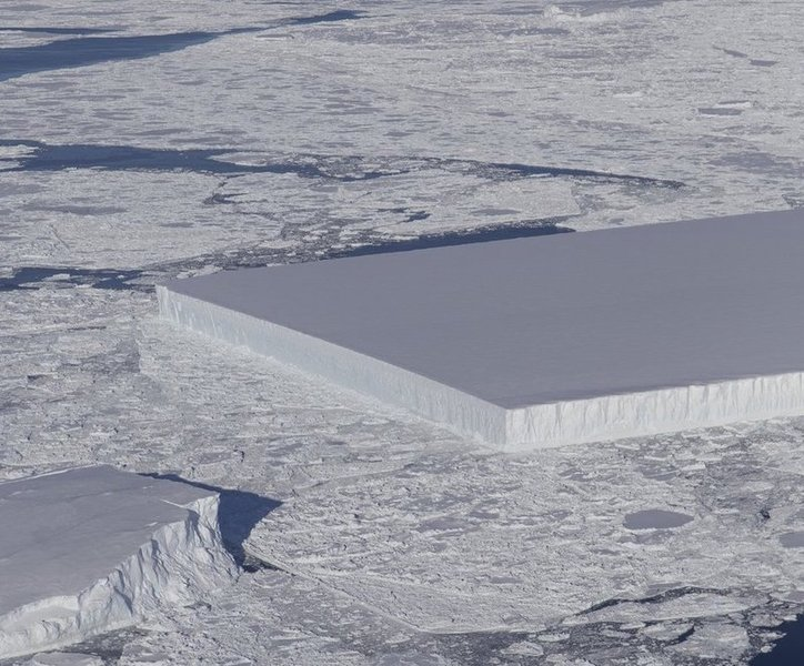 How Did This Square Iceberg Form?