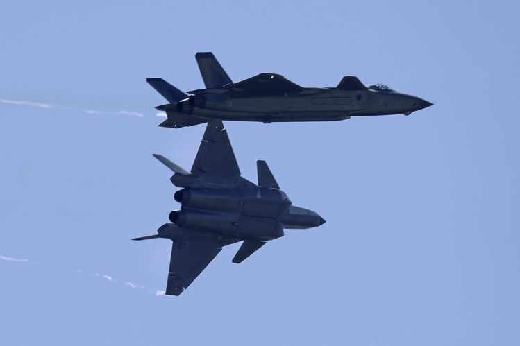 Formation of J-20 Fighters Spark Speculation