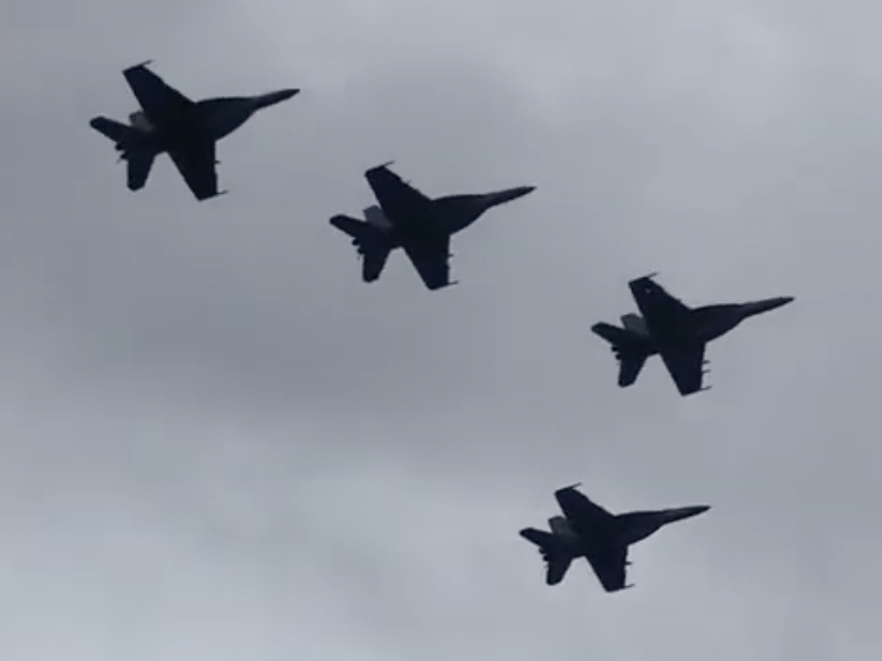 Navy Performs Largest-Ever 21 Aircraft Missing Man Formation
