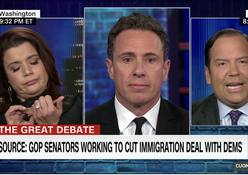 CNN's Navarro Files Nails During Wall Debate With Steve Cortes: People Killed By Illegals Can't Do Their Nails
