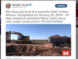 President Trump Tweets Video Of Border Wall Construction In
