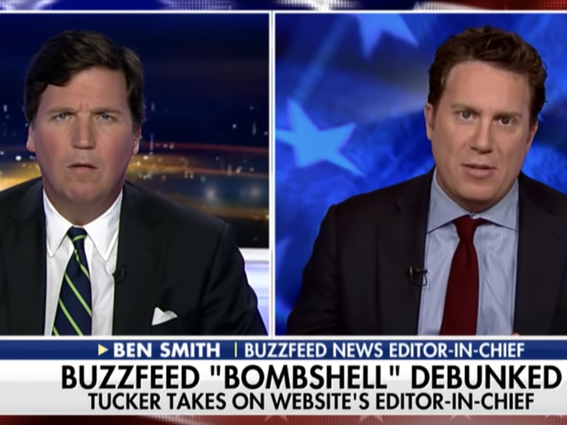 Tucker Carlson vs  BuzzFeed's Ben Smith: Why Not Admit That There Is