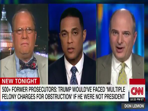 Don Lemon Open Letter.Former Federal Corruption Prosecutor Mueller Report Demonstrates