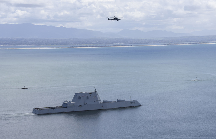 USS Zumwalt Destroyer to Fire New Missiles, Laser Weapons