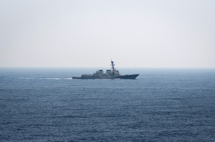 U.S. Navy Again Sails Through Taiwan Strait