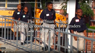 A Moment to Celebrate: All Members of Kauffman School Admitted to College