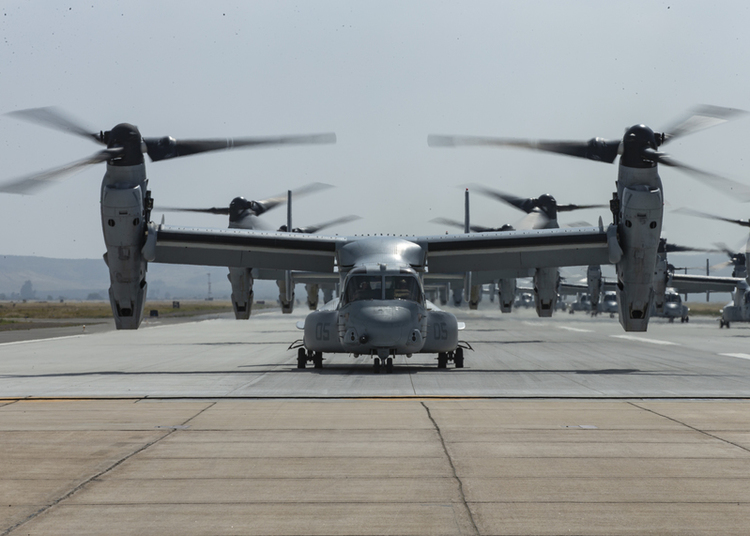 Marines Conduct Elephant Walk With MV-22s and CH-53s