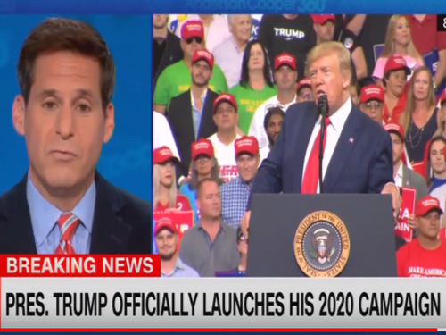 CNN Cuts Away From Trump Rally After Crowd Chants