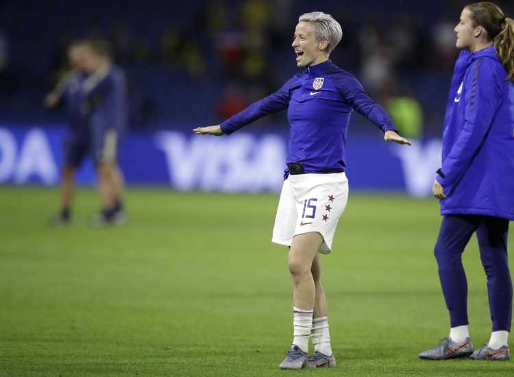 Megan Rapinoe Becomes U.S. Soccer's Middle Finger to Trump