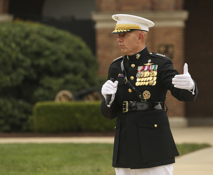 In Fight to Change Corps, Top Marine Takes Friendly Fire