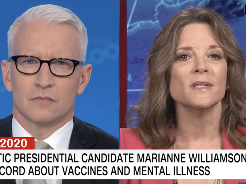 Best Antidepressant 2020 Marianne Williamson vs. Anderson Cooper on Depression: