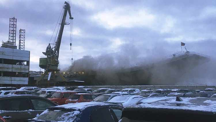 Deadly Blaze Hits Admiral Kuznetsov, Russia's Only Aircraft Carrier