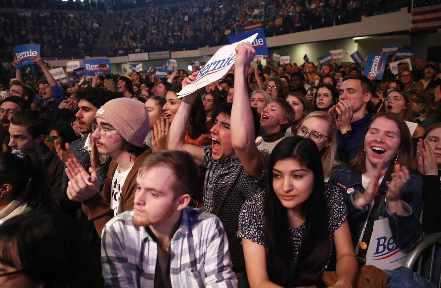 At Sanders' Iowa Rally, No Fear of the S-Word