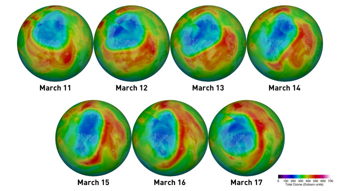 A Rare Ozone Hole Opens Over the Arctic, and It's Big