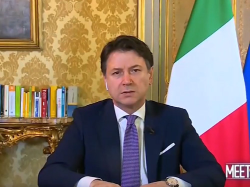 """Italian PM Giuseppe Conte: """"America And President Trump Once More Have Proven To Be Italy's True And Loyal Friends"""""""
