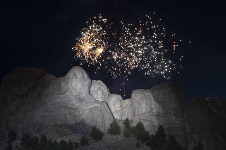 Facing Mount Rushmore