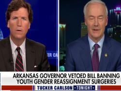 Tucker Carlson Grills Arkansas Gov. Asa Hutchinson On Veto Of Bill Banning Gender Hormones For Transgender Kids