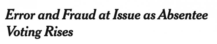 New York Times headline, Oct. 6, 2021