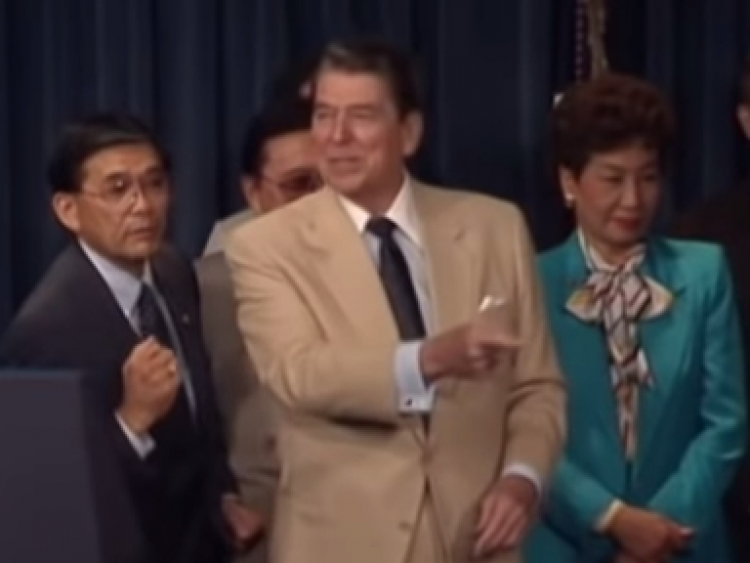 YouTube/Reagan Library