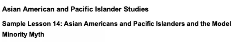 California Ethnic Studies Model Curriculum