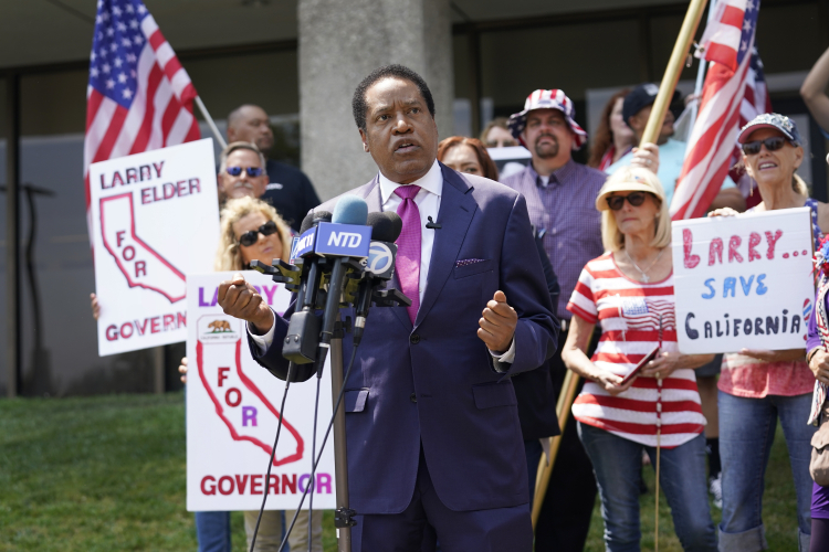 Could Larry Elder replace Newsom in California?