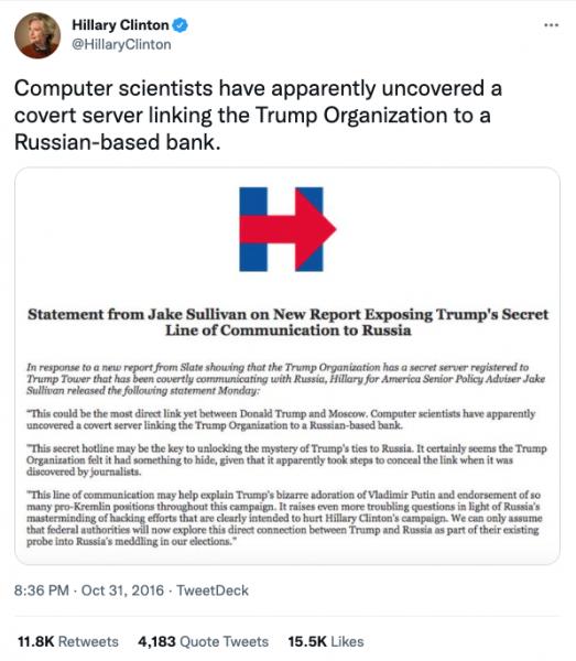 Twitter/@HillaryClinton